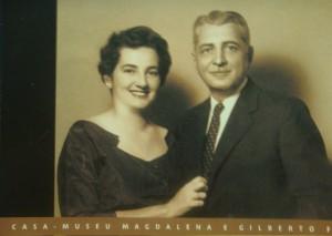 Postal da Casa-Museu Magdalena e G. Freire