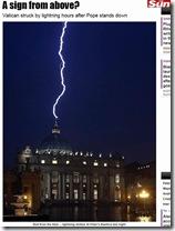 Raio no Vaticano 2