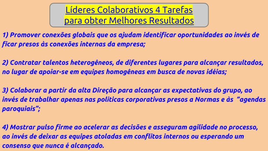 Colaboração: Economia em Mutação exige Líderes Colaborativos
