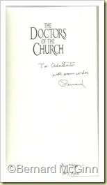 Autografo Dr.BernardMcGinn