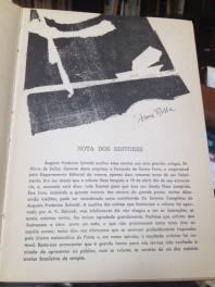 Augusto Frederico Schmidt, 50 Anos de SONETOS, seu último e definitivo livro de poemas.