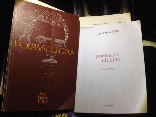 Duas edições de Poemas e Elegias, de José Décio Filho