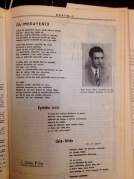 """O poeta Zé Décio, redator da Imprensa Oficial de Goiás e da revista """"Oeste""""."""