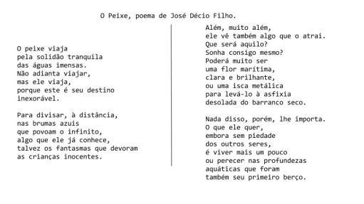O Peixe, poema de J. Décio Filho
