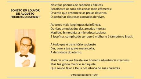 Manuel Bandeira Soneto a Schmidt