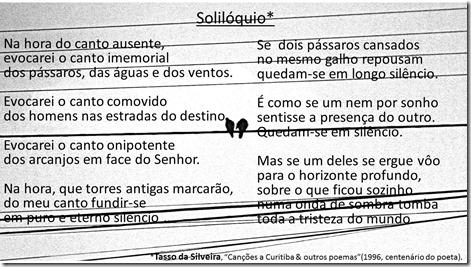 Soliloquio_Poema de Tasso Da Silveira
