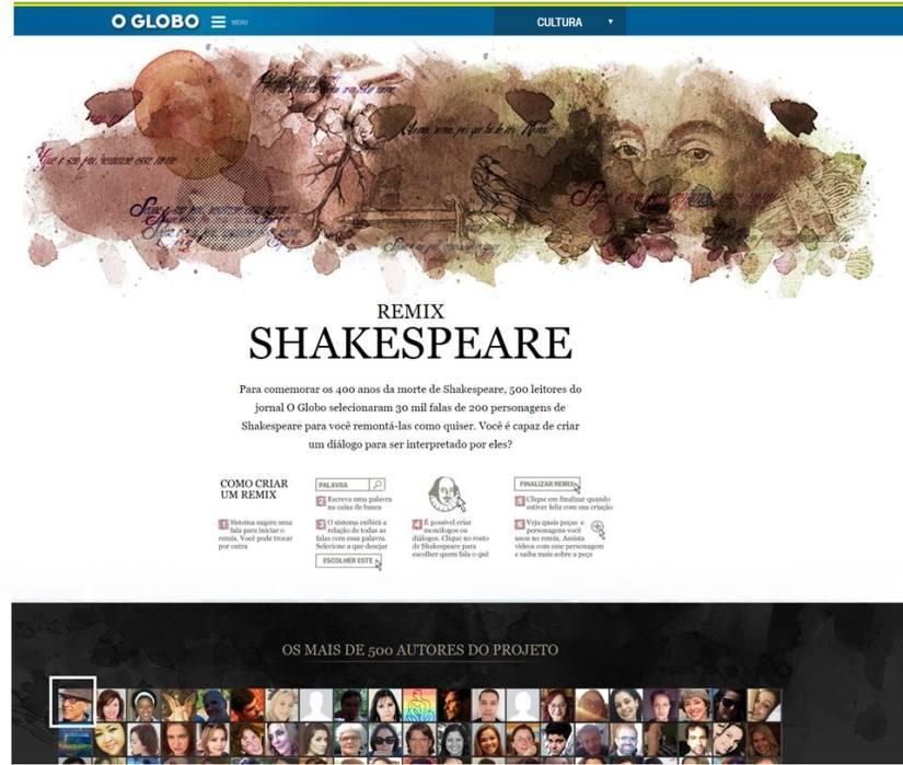 Projeto Shakespeare Remix_OGlobo