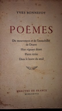 A coletânea de poemas de Bonnefoy, 1878