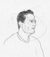 Desenho de Felipe Stefani, retratando o poeta baiano
